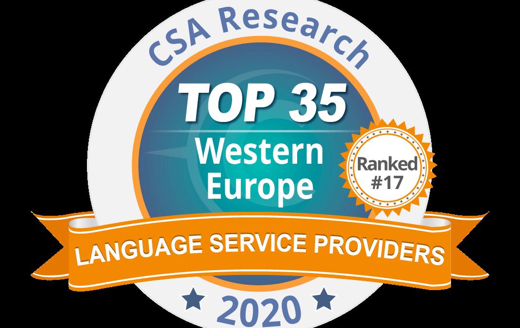 Cabinet Bonnefous et le Groupe Tradutec, 17e du classement CSA des entreprises de traduction