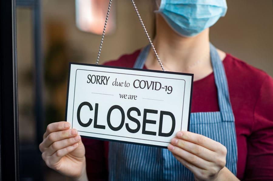 Boutique fermée à cause du COVID 19